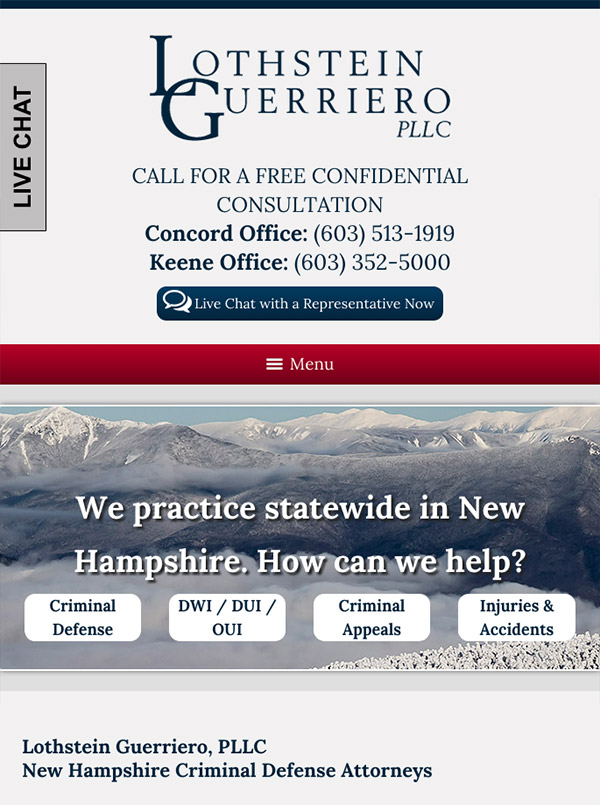 Mobile Friendly Law Firm Webiste for Lothstein Guerriero, PLLC