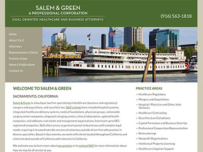 Sacramento Law Firm Website Design