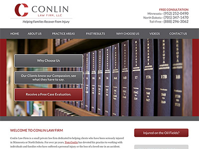 Minneapolis Personal Injury Law Firm Website