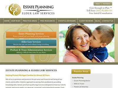 Brighton Northville Michigan Estate Planning Attorney Website