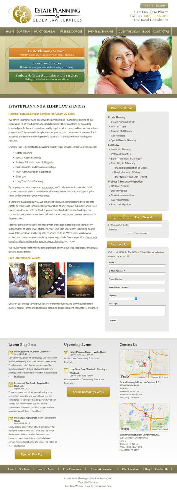 Law Firm Website Design for Estate Planning & Elder Law Services, P.C.