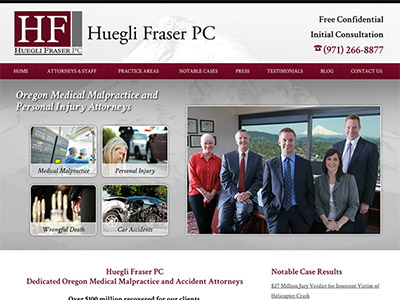 Portland Oregon Law Firm Website Design
