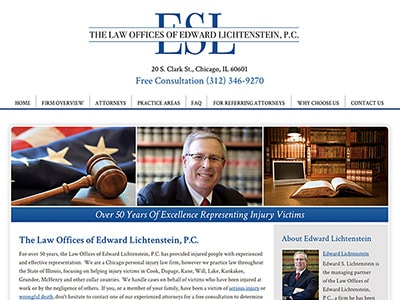 Chicago Personal Injury Attorney Website