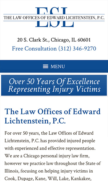 Responsive Mobile Attorney Website for The Law Offices of Edward Lichtenstein, P.C.