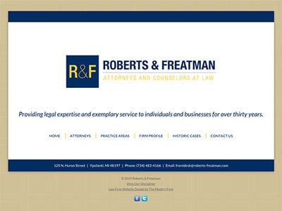 Ypsilanti Michigan Law Firm Website Design