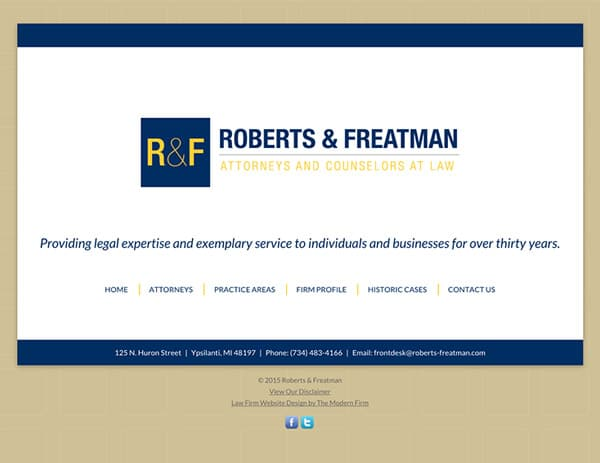 Law Firm Website Design for Roberts & Freatman