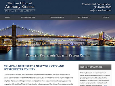 Law Firm Website design for The Law Office of Anthony…