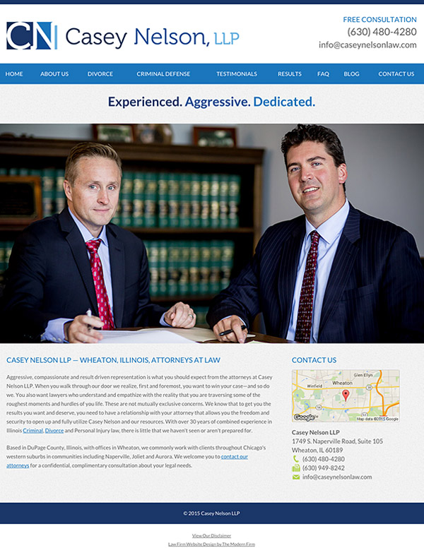 Law Firm Website Design for Casey Nelson, LLP