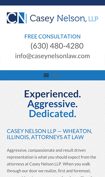 Responsive Mobile Attorney Website for Casey Nelson, LLP