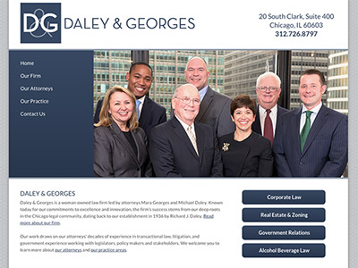 Law Firm Website design for Daley & Georges, Ltd.