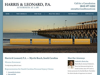Myrtle Beach Personal Injury Attorney Website