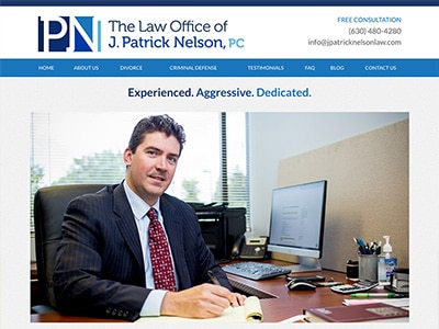 Law Firm Website design for The Law Office of J. Patr…