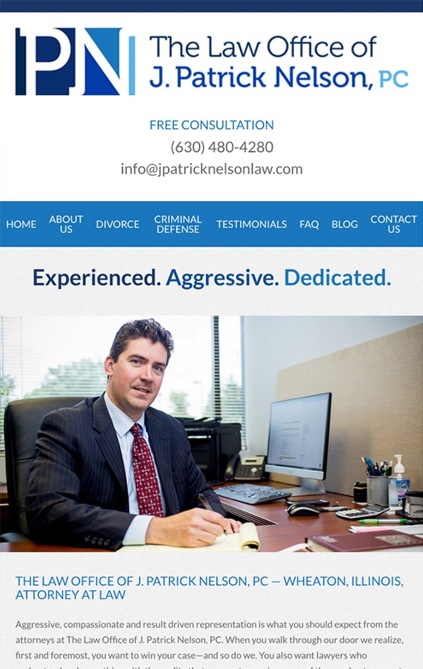 Mobile Friendly Law Firm Webiste for Casey Nelson, LLP