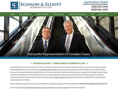 Akron Ohio Personal Injury Attorney Website