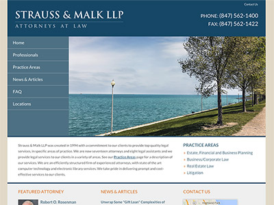 Chicago Law Firm Website Design
