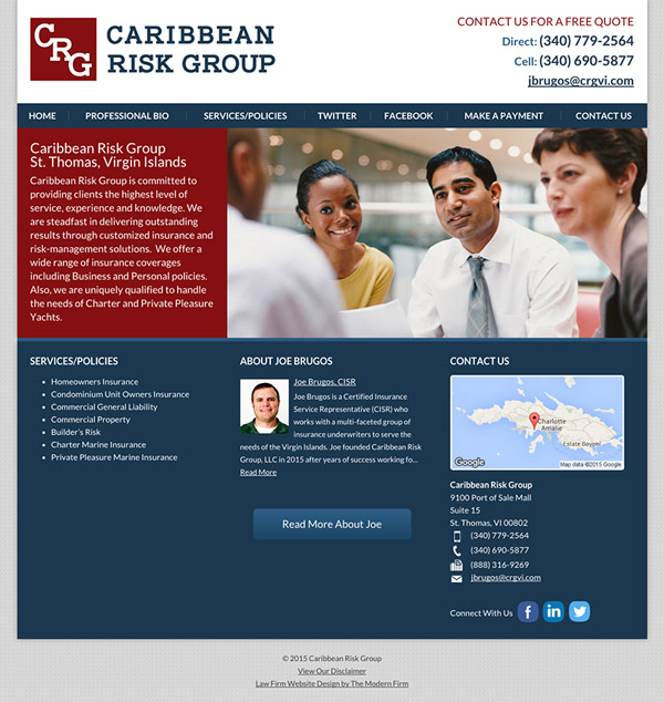 Virgin Islands Website Design