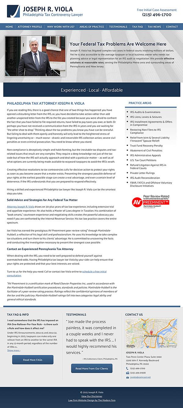 Law Firm Website Design for Joseph R. Viola