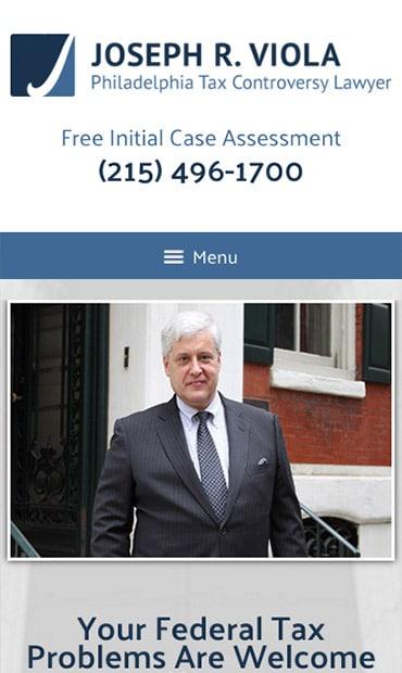Responsive Mobile Attorney Website for Joseph R. Viola