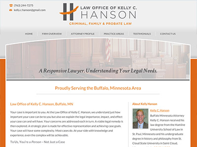 Buffalo, MN, Solo Attorney Website Design
