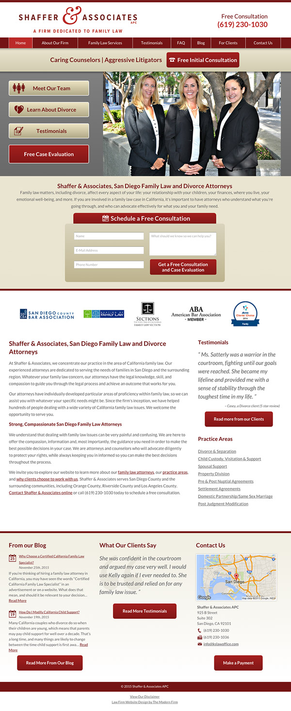 Law Firm Website Design for Shaffer & Associates APC