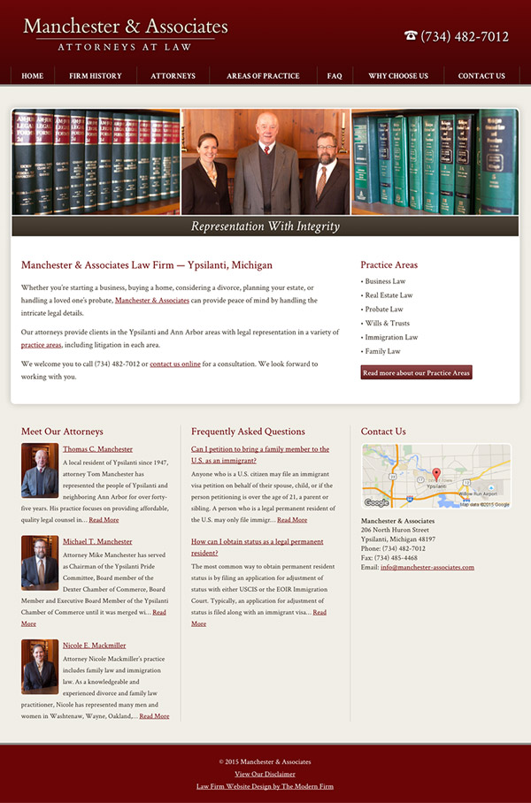 Law Firm Website Design for Manchester & Associates