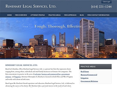 Law Firm Website design for Rinehart Legal Services,…
