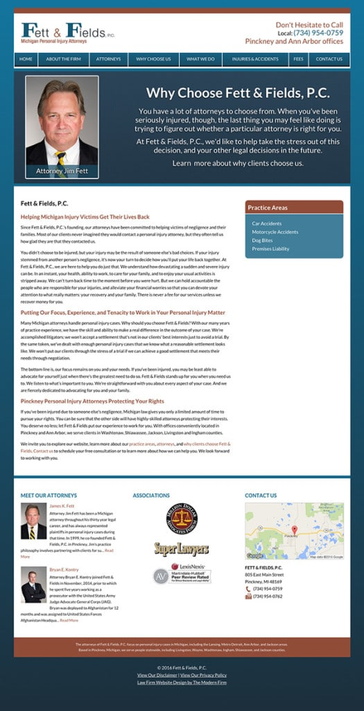 Pinckney Michigan Law Firm Website Design