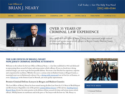 Law Firm Website design for Law Offices of Brian J. N…