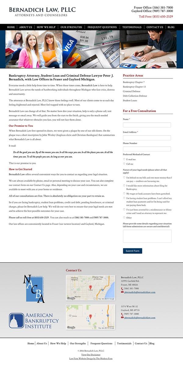 Law Firm Website Design for Bernadich Law, PLLC