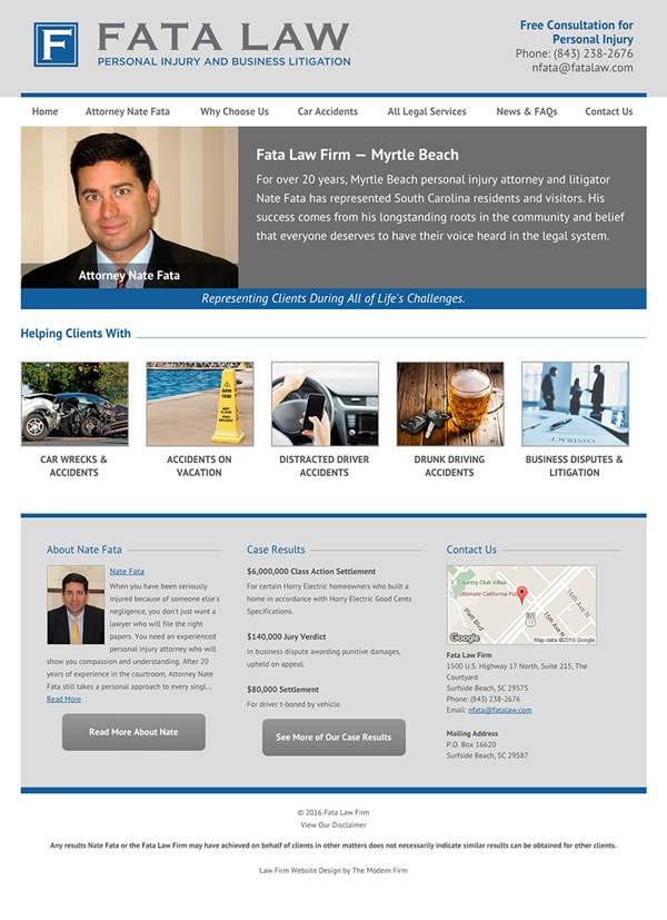 Law Firm Website Design for Fata Law Firm