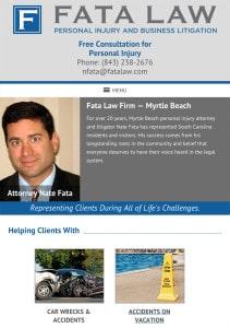Myrtle Beach SC Attorney Tablet Design