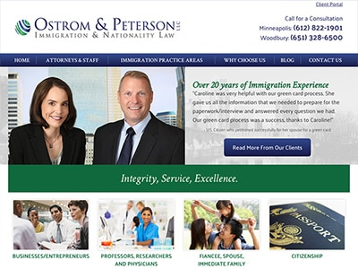 Law Firm Website design for Ostrom & Peterson LLC