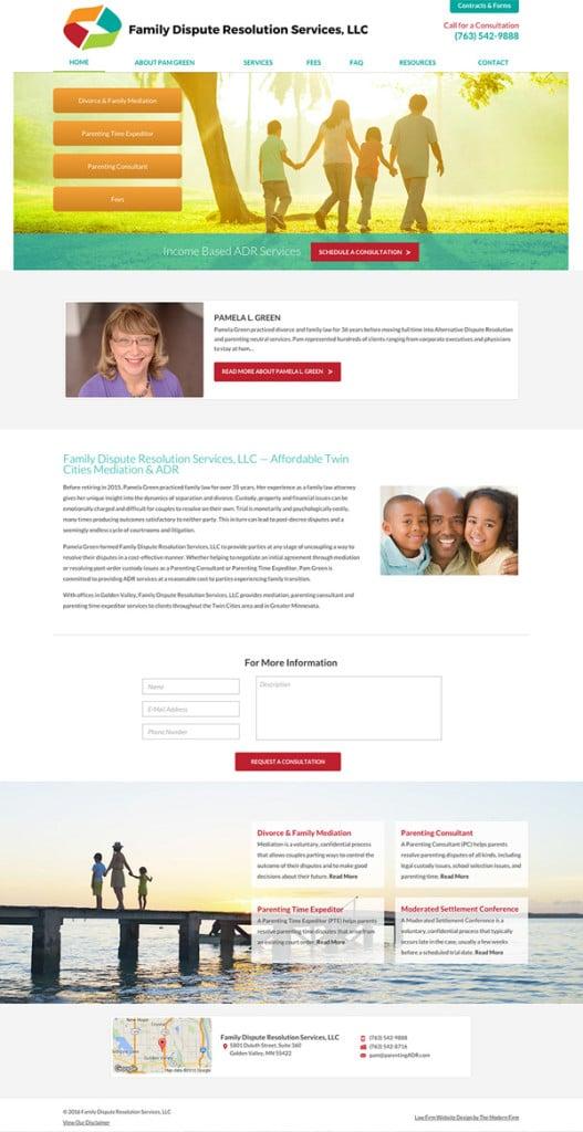 Minneapolis Parenting Mediation Website Design