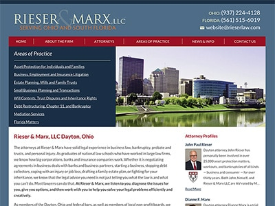 Law Firm Website design for Rieser & Marx, LLC