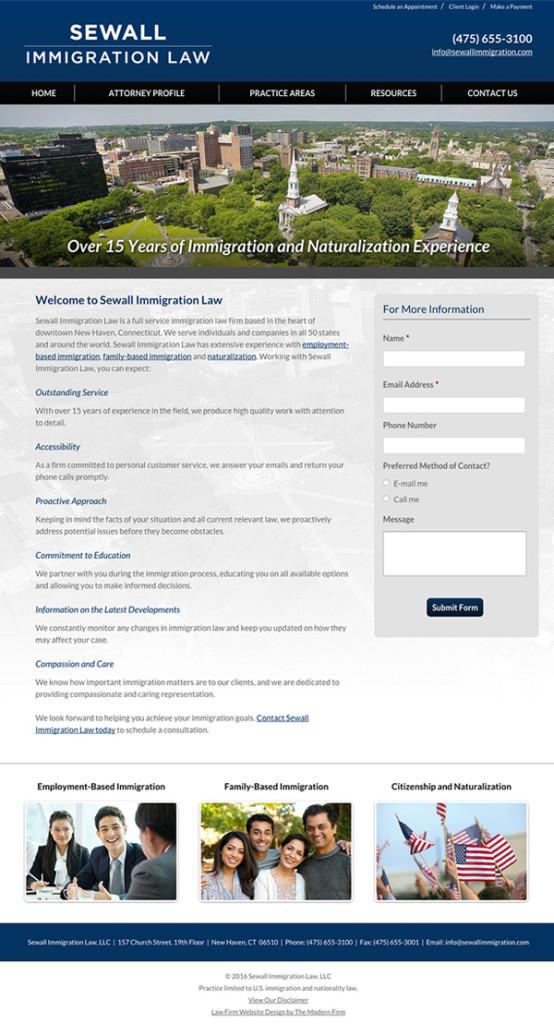New Haven Connecticut Lawyer Website Design
