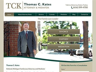 Website Design for Thomas C. Kates, Attorney…