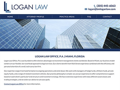 Website Design for Logan Law Office, P.A.