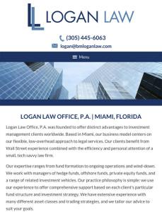 Miami Florida Attorney Tablet Website Design