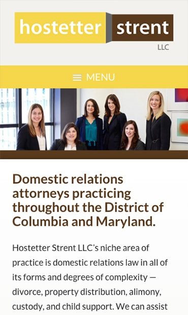 Responsive Mobile Attorney Website for Hostetter Strent LLC