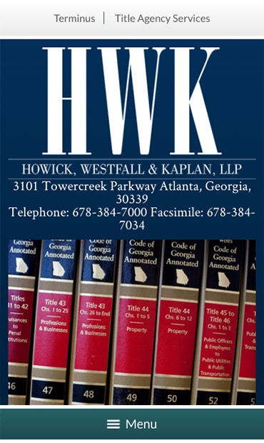 Responsive Mobile Attorney Website for Howick, Westfall & Kaplan, LLP