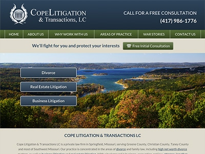 Law Firm Website design for Cope Litigation & Transac…