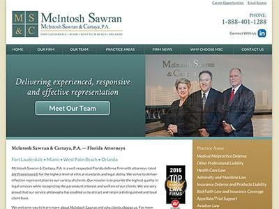 Law Firm Website design for McIntosh Sawran & Cartaya…