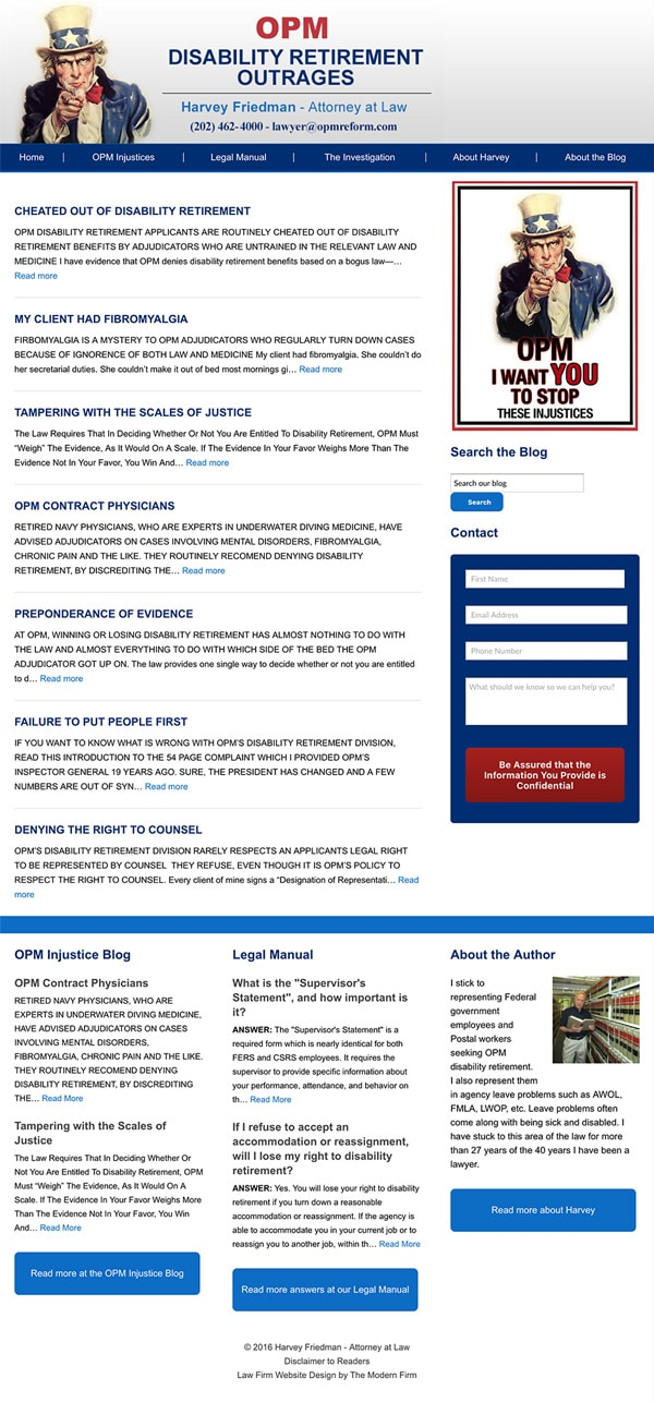 Law Firm Website Design for Harvey Friedman - Attorney at Law