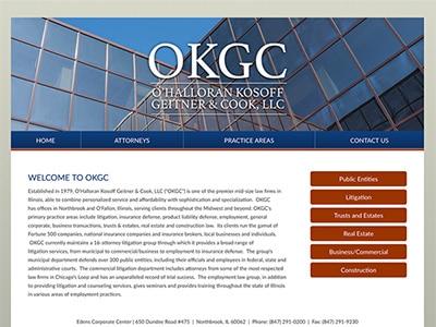 Law Firm Website design for O'Halloran Kosoff Geitner…