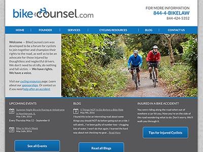 Law Firm Website design for Bikecounsel.com - Casey N…