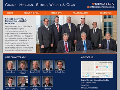Website Design for Crane, Heyman, Simon, Wel…