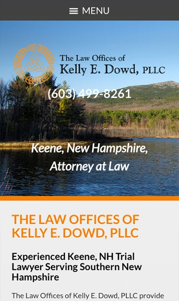 Responsive Mobile Attorney Website for The Law Offices of Kelly E. Dowd, PLLC