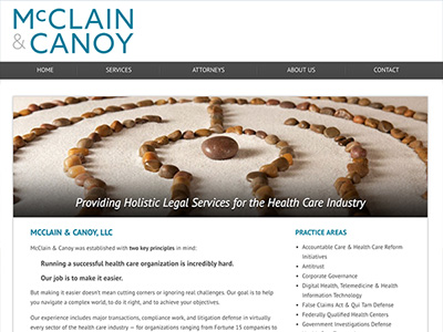 Law Firm Website design for McClain & Canoy, LLC
