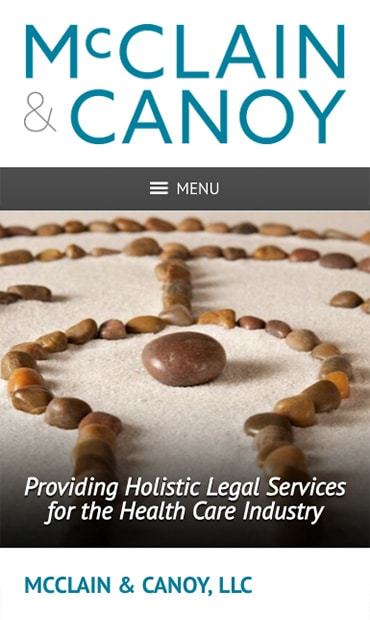 Responsive Mobile Attorney Website for McClain & Canoy, LLC