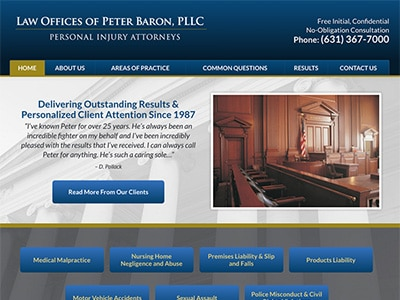 Law Firm Website design for Law Offices of Peter Baro…